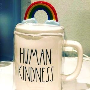 Human Kindness Mug with Rainbow topper